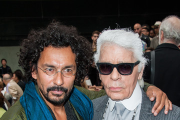 Karl Lagerfeld Dior Homme : Front Row - Paris Fashion Week - Menswear S/S 2015