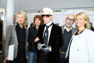 Karl Lagerfeld Chanel : Front Row - Paris Fashion Week - Haute Couture Fall/Winter 2016-2017