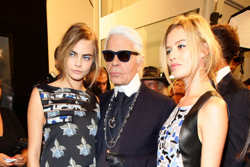 Karl Lagerfeld Backstage at Fendi