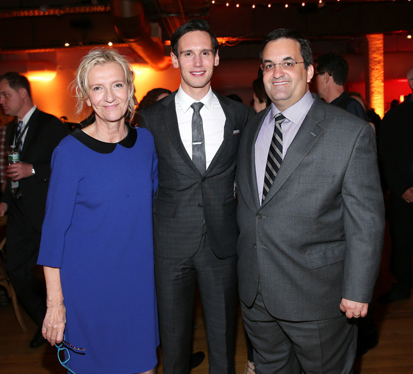 """""""Olive Kitteridge"""" New York Premiere - After Party [olive kitteridge,miniseries,suit,event,formal wear,tuxedo,smile,premiere,white-collar worker,elizabeth strout,cory michael smith,president,kary antholis,l-r,hbo,new york premiere,party]"""