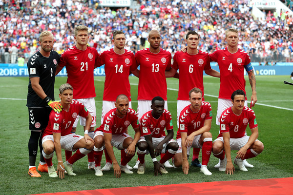 Denmark Vs. France: Group C - 2018 FIFA World Cup Russia [team,sports,team sport,ball game,sport venue,player,soccer player,football player,stadium,international rules football,group c - 2018 fifa world cup,group c match,russia,france,moscow,luzhniki stadium,denmark]