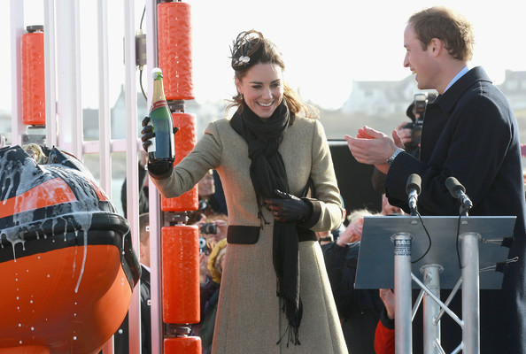 prince william out with kate to dedicate lifeboat. First to dedicate and their