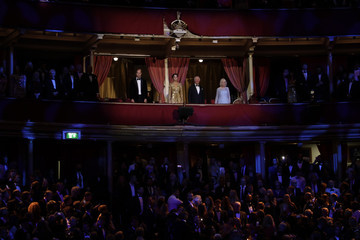 """Kate Middleton Camilla Parker Bowles World Premiere Of """"NO TIME TO DIE"""" - Royal Albert Hall"""