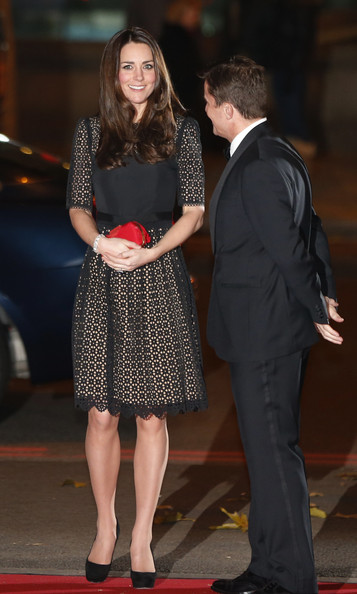 Kate Middleton Catherine, Duchess of Cambridge, patron of SportsAid charity, is greeted by Tim Lawler, the chief executive of the charity, as she attends the SportsBall, the charity's annual gala dinner at Victoria Embankment Gardens on November 28, 2013  in London, England.