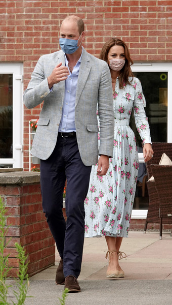 The Duke And Duchess Of Cambridge Visit South Wales [clothing,suit,blazer,street fashion,outerwear,fashion,snapshot,formal wear,footwear,jacket,prince william,duke,residents,staff,shire hall care home,duchess of cambridge,south wales,cambridge,home,visit,blazer,socialite,tuxedo m.]