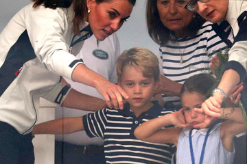 Kate Middleton Prince George The Duke And Duchess Of Cambridge Take Part In The King's Cup Regatta