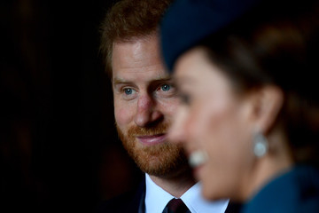 Kate Middleton Prince Harry The Duchess Of Cambridge Attends ANZAC Day Service