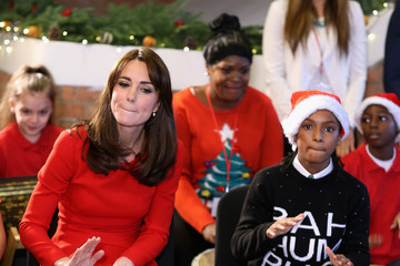 Kate Middleton The Duchess of Cambridge Attends The Anna Freud Centre Family School Christmas Party