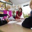 Kate Middleton The Duchess Of Cambridge And Dr. Jill Biden Visit A Primary School In Cornwall