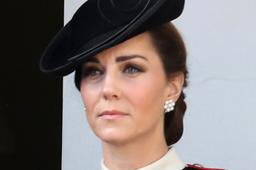 Kate Middleton Wreaths Are Laid At The Cenotaph On Remembrance Sunday