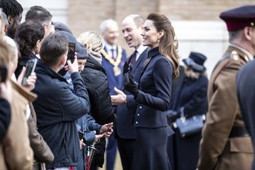 Kate Middleton Prince Of Wales And Duchess Of Cornwall Visit Leicestershire
