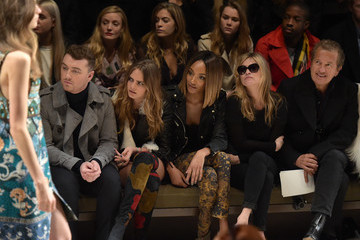Kate Moss Burberry Prorsum AW 2015 Front Row And Show