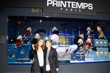 Kate Moss Printemps Christmas Decorations Inauguration in Paris