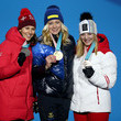 Katharina Gallhuber Medal Ceremony - Winter Olympics Day 7