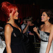 She gabs with Rihanna at events.