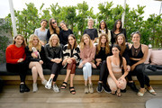 Guests including Louise Roe, Whitney Port, and Baskin Champion attend Galentine's Day Glow with Biossance hosted by Katherine Schwarzenegger at Alo Yoga Beverly Hills on February 12, 2019 in Beverly Hills, California.
