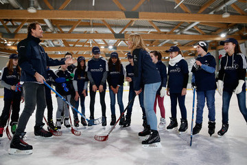 Kathi Woerndl Laureus World Sports Awards 2016 - Berlin Nominations and Kick on Ice Project Visit