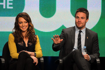 Katie Cassidy Stephen Amell 2012 Summer TCA Tour - Day 10