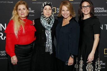 """Katie Couric Courteney Monroe Special Screening Of National Geographic's Oscar-Nominated Documentary """"The Cave"""" With Film Subject Dr. Amani Ballour"""