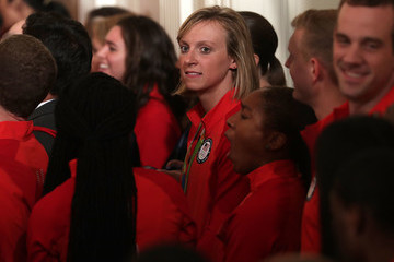 Katie Ledecky President And Mrs. Obama Welcome 2016 U.S. Olympians To The White House