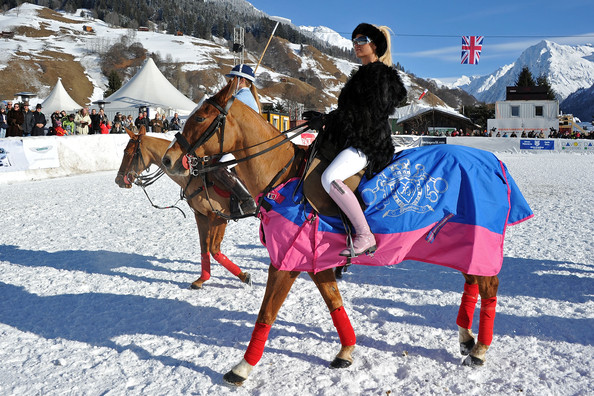 Katie Price Kp Equestrian Photocall At 7th Berenberg Snow Polo Event