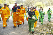 CFA representatives arrive for the free Fight On concert featuring Katy Perry, which was held for for firefighters and communities recently affected by the devastating bushfires in Victoria.