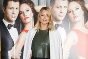 Holly Valance attends the VIP preview evening for 'Katya & Pasha' at Lyric Theatre on April 7, 2014 in London, England.