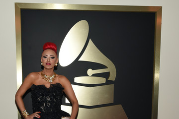 Kaya Jones The 57th Annual GRAMMY Awards - Red Carpet