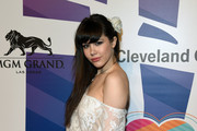 "Model Claire Sinclair attends the 19th annual Keep Memory Alive ""Power of Love Gala"" benefit for the Cleveland Clinic Lou Ruvo Center for Brain Health honoring Andrea Bocelli and Veronica Bocelli at MGM Grand Garden Arena on June 13, 2015 in Las Vegas, Nevada."