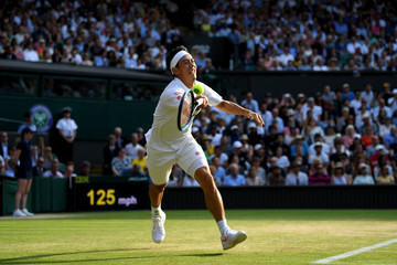 Kei Nishikori Day Nine: The Championships - Wimbledon 2019