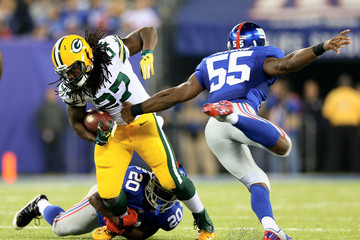 Keith Rivers Green Bay Packers v New York Giants