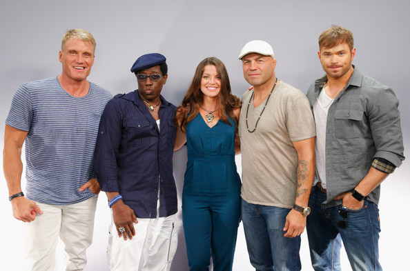 'The Expendables 3' Event at Comic-Con [movies,the expendables 3,interviews,people,social group,community,event,team,fun,photography,smile,white-collar worker,family,camille ford,actors,actors,randy couture,l-r,san diego,comic-con]
