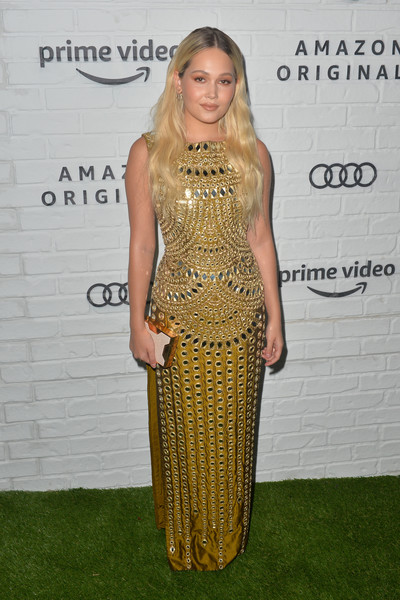 Amazon Prime Video Post Emmy Awards Party 2019 - Arrivals [clothing,dress,shoulder,carpet,red carpet,hairstyle,fashion,long hair,blond,cocktail dress,arrivals,kelli berglund,emmy awards,amazon prime video post emmy awards,california,los angeles,prime video post,amazon,party]