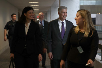 Kelly Ayotte  Supreme Court Nominee Neil Gorsuch Meets With Sen. Al Franken (D-MN) on Capitol Hill