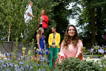 Kelly Brook Preview of the Hampton Court Flower Show