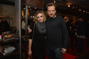 Samaire Armstrong and Kelly Cole attend the Kelly Cole Winter 2013/2014 Collection Launch Benefitting Art of Elysium at Kelly Cole Flagship Store on December 5, 2013 in Los Angeles, California.