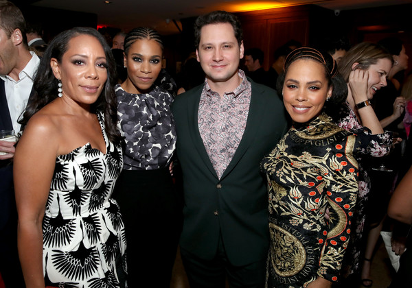 Entertainment Weekly And L'Oreal Paris Hosts The 2019 Pre-Emmy Party - Inside [event,fashion,fashion design,fun,party,haute couture,formal wear,fashion accessory,style,premiere,amirah vann,matt mcgorry,kelly mccreary,selenis leyva,pre-emmy,l-r,entertainment weekly,loreal paris hosts,party,pre-emmy party]