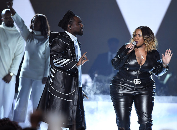 BET Presents: 2019 Soul Train Awards -  Show [performance,music artist,performing arts,music,event,outerwear,latex clothing,pop music,stage,leather,wale,kelly price,las vegas,nevada,orleans arena,bet,bet presents: 2019 soul train awards,show]