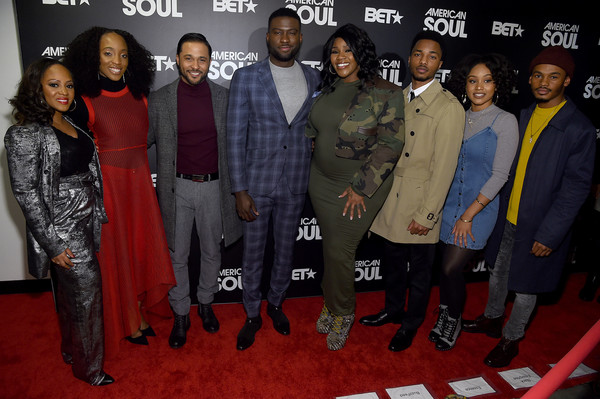 BET's 'American Soul' New York Premiere [red carpet,event,premiere,carpet,flooring,suit,formal wear,perri camper,iantha richardson,katlyn nicol,christopher jefferson,kelly price,jason dirden,american soul,new york,bet,premiere]