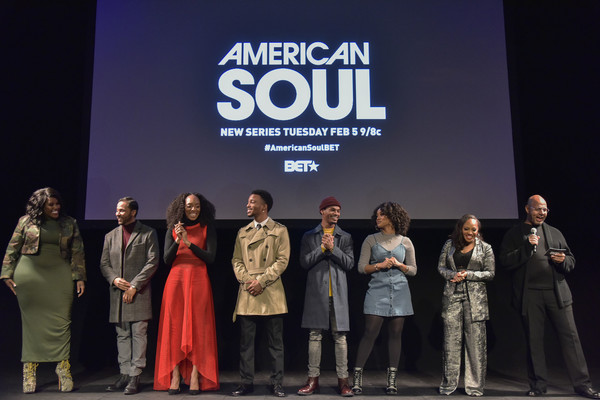 BET American Soul NYC Screening Event [event,stage,heater,performance,performing arts,team,award ceremony,competition,musical theatre,drama,jason dirden,jelani winston,katlyn nichol,christopher jefferson,iantha richardson,perri camper,emil wilbekin,tonykelly price,new york city,bet american soul nyc screening event]