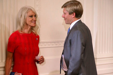 Kellyanne Conway President Trump Promotes Products Made in America at the White House