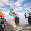 Kelsey Davies Outward Bound Charity Raise Royal Sovereign Flag In Honour Of HRH Duke Of Edinburgh's Involvement From The UK's Highest 3 Peaks