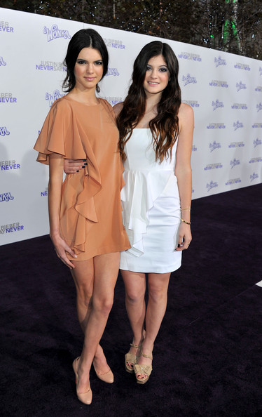 """Kendall Jenner TV personalities Kendall Jenner and Kylie Jenner arrive at the premiere of Paramount Pictures' """"Justin Bieber: Never Say Never"""" held at Nokia Theater L.A. Live on February 8, 2011 in Los Angeles, California."""