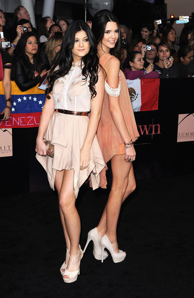 "Kendall Jenner TV personalities Kylie Jenner and Kendall Jenner arrives at the Premiere of Summit Entertainment's ""The Twilight Saga: Breaking Dawn - Part 1"" at Nokia Theatre L.A. Live on November 14, 2011 in Los Angeles, California."