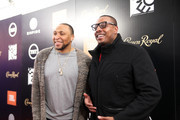 (L-R) Shawn Marion and Paul Pierce at NASCAR Hall of Fame on February 15, 2019 in Charlotte, North Carolina.