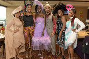 (L-R) A guest, Eden Bridgeman, Bozoma Saint John, Quincy, Star Jones and Phaedra Parks attend the 145th Kentucky Derby at Churchill Downs on May 04, 2019 in Louisville, Kentucky.