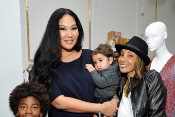 Kenzo Lee Hounsou Kimora Lee Simmons Celebrates the Opening of Her Beverly Hills Boutique with W Magazine