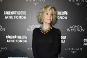 Jane Fonda attends Kering Women In Motion Master Class With Jane Fonda at la cinematheque on October 22, 2018 in Paris, France.