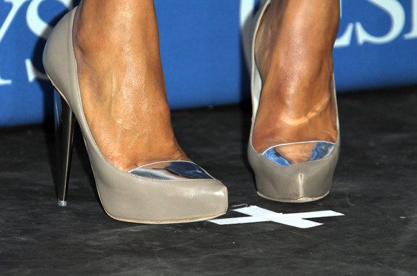 Kerry Washington A detail of the shoes of Actress Kerry Washington as she poses in the press room at The 2011 ESPY Awards at Nokia Theatre L.A. Live on July 13, 2011 in Los Angeles, California.