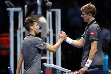 Kevin Anderson Nitto ATP World Tour Finals - Day One